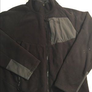 The North Face Mens Black Fleece Jacket Large.